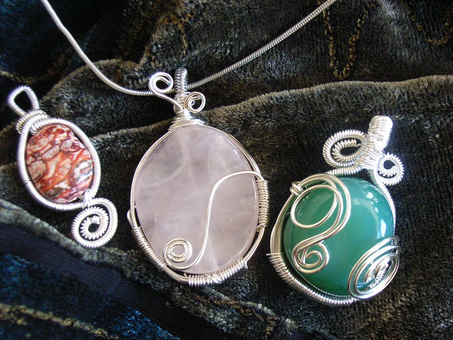 Wire wrapped pendants easy tutorial shows how to wrap the flickr wire wrapped pendants easy by picadilly jewelry mozeypictures Image collections