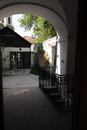 entering the backyard form the main sqare, through the gallery | by Kitchen Budapest