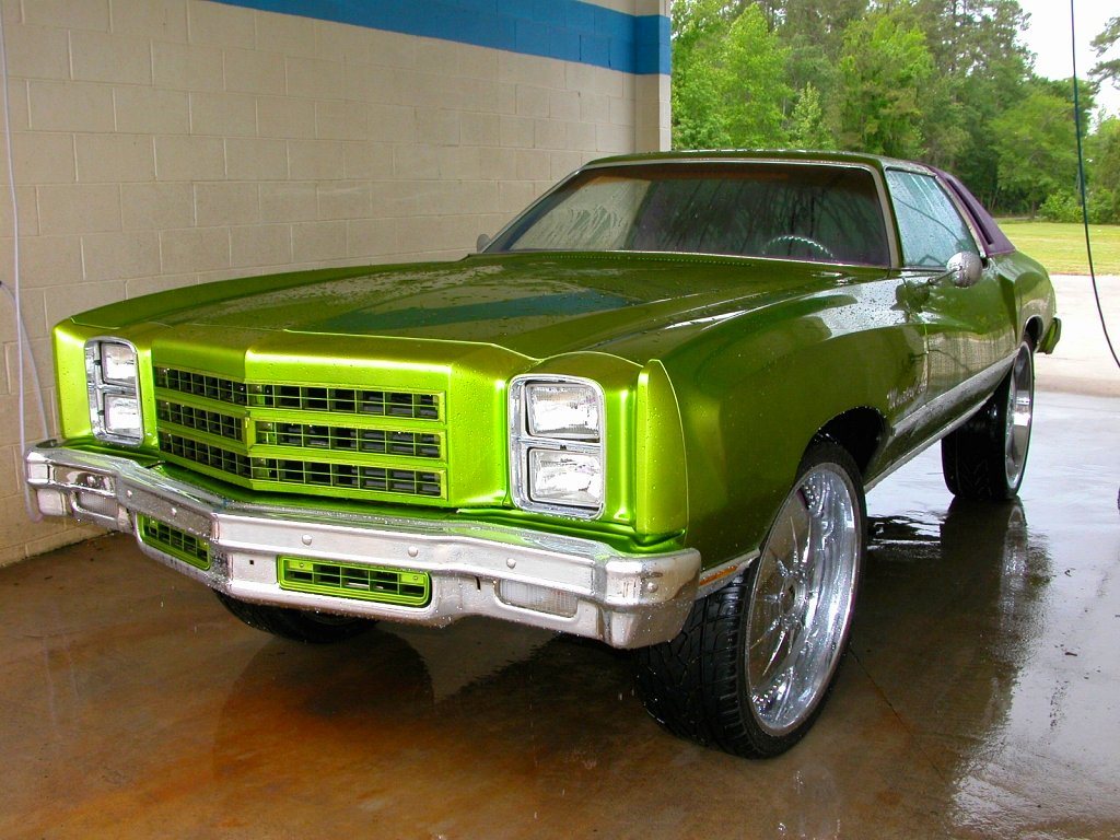New Chevy Trucks >> Green donk - 1970s Monte Carlo | Charlie J | Flickr