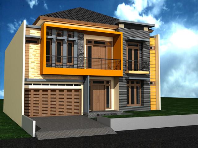 Tampak Depan Rumah Minimalis 2 Lantai di Pondok Kelapa ...
