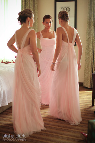 Pink vera wang bridesmaid dresses test489 flickr for Champagne pink wedding dresses