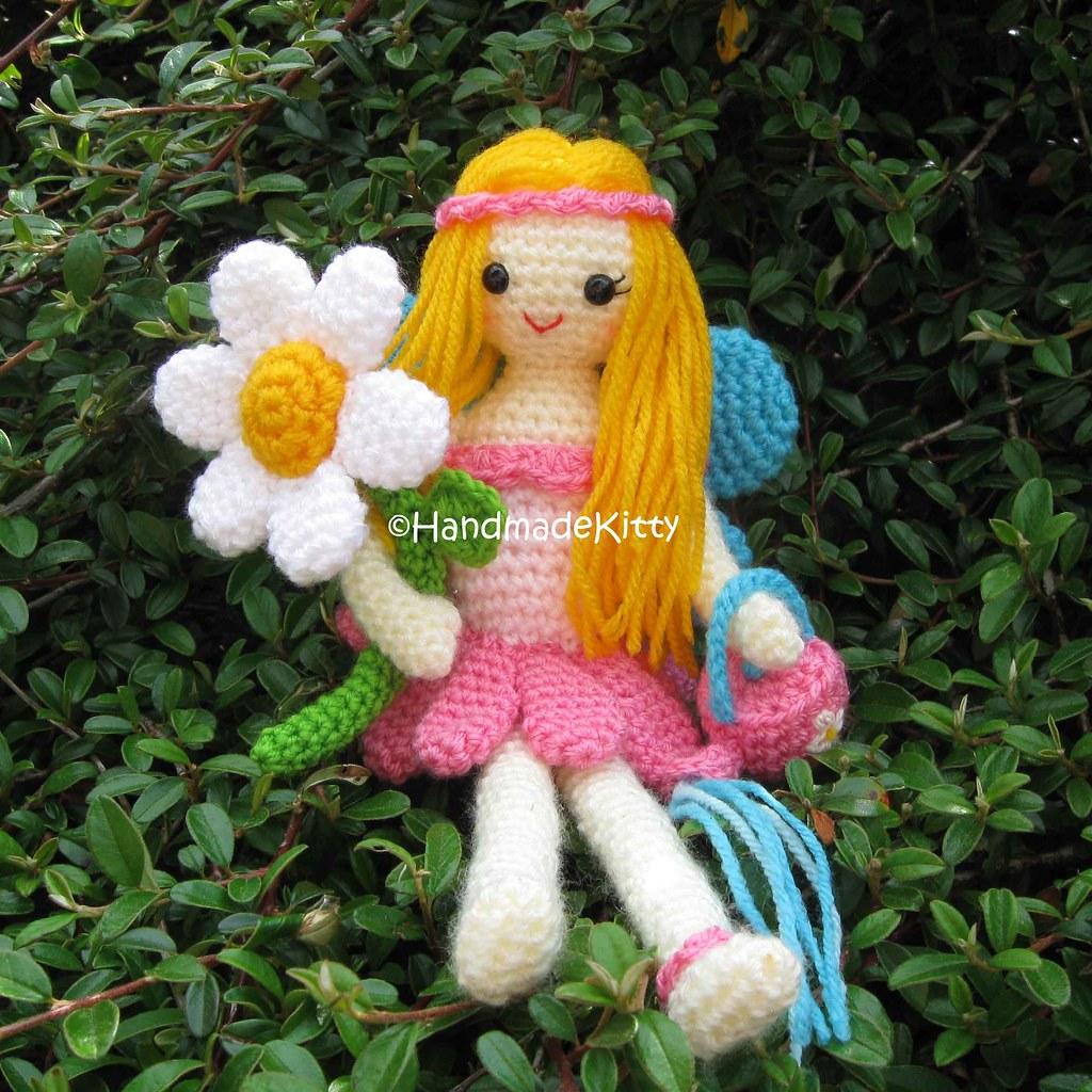 Amigurumi Fairy Tales Free : Garden Fairy Amigurumi Crochet Pattern by HandmadeKitty ...