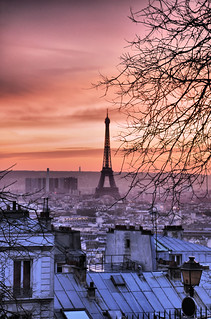 eiffel tower @ sunset | by romvi