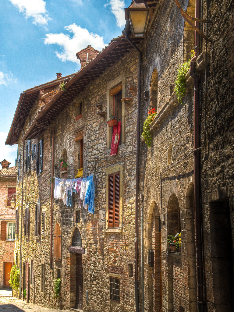 Francois Illas New Tradition: Old Houses In The Medieval Walled Town Of Gubbio, Italy