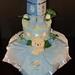 Blue Pooh Bear Diaper Cake
