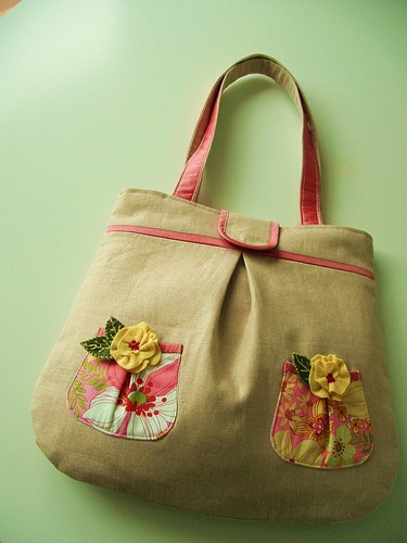 posy tote | by pinklemonadeboutique