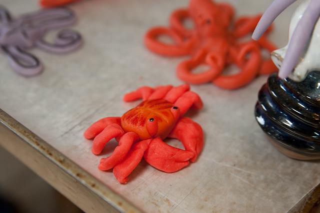 Crab Themed Birthday Cake