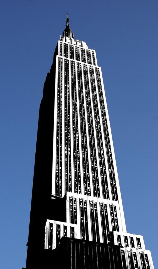 White Empire State Building