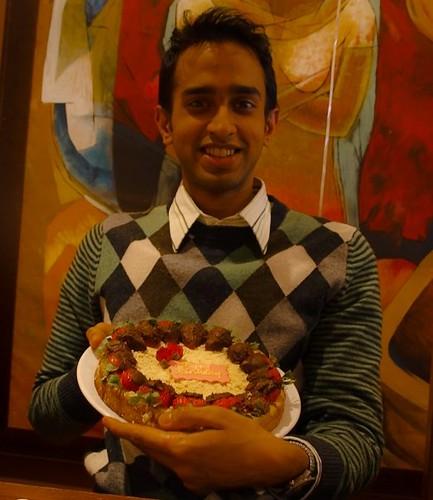 Vijays Vegan Lemon Cake with Chocolate Covered Strawberri…  Flickr