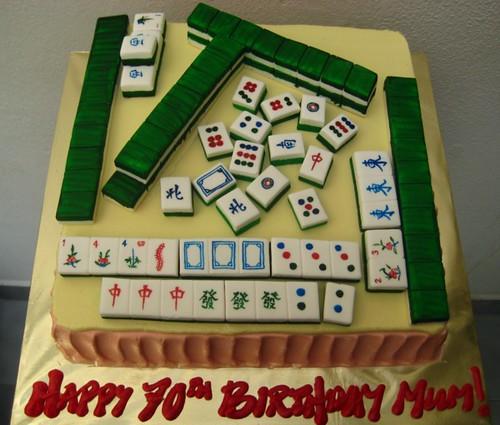 Mahjong Birthday Cake