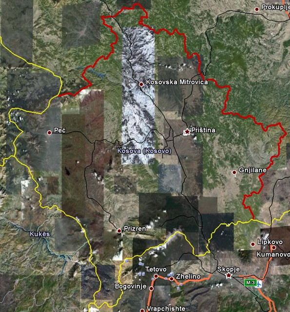 Kosovo In Google Earth Rolandinsh Label Flickr