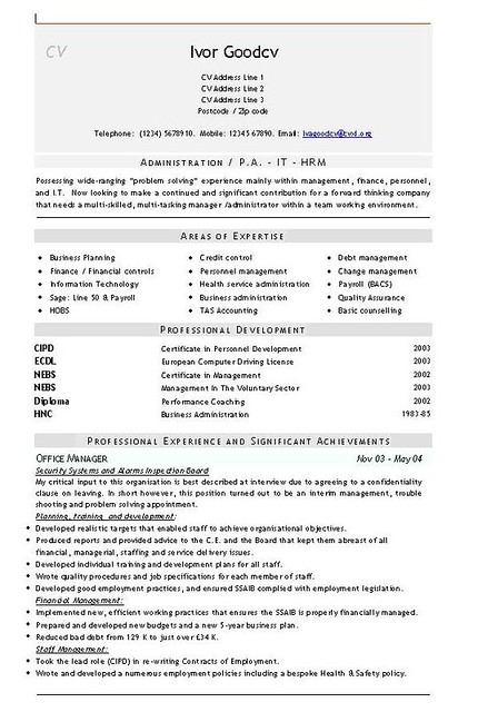 Admin CV Templates | CVs and Resumes for admin and office wo… | Flickr