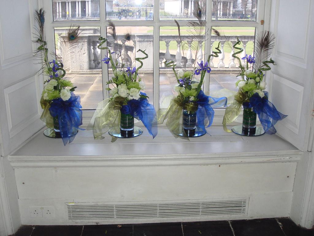 Green White And Blue Wedding Flower Arrangement 3 Flickr