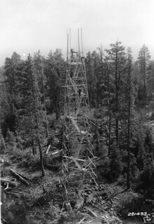 Fire tower construction, Fremont National Forest, Oregon | by OSU Special Collections & Archives : Commons