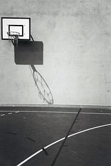 Abstract composition (basket ball field)