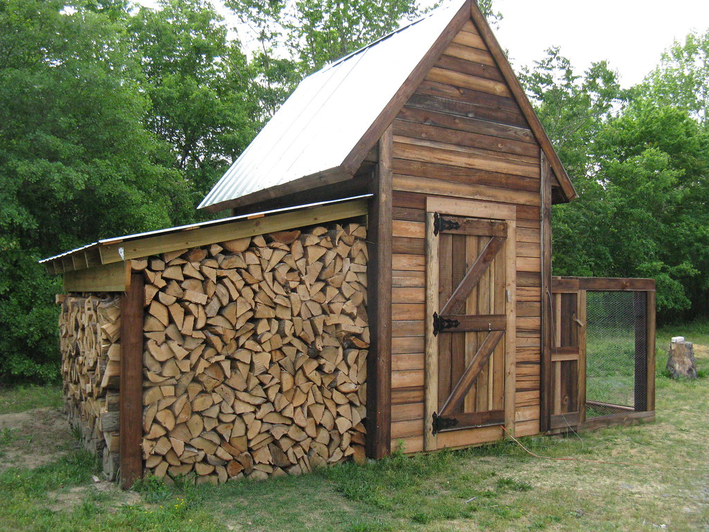 Shed Greenhouse Plans Coop 010 Coop Woodshed Completed With Run Kevin