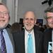 John Platt with WFUV Board Members Henry Barkhorn and Irwyn Applebaum