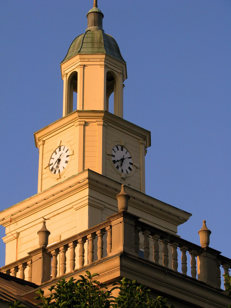 Lincoln County Courthouse A Clock Tower Located In The