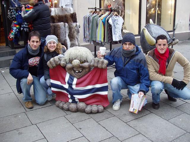 En Oslo con un troll (Noruega)