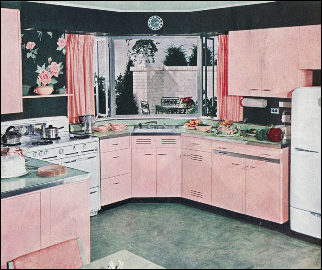 Medium image of     1940s kitchen design   by american vintage home