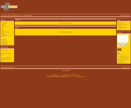 Free Brown Yellow Php Fusion Theme Template Get It From