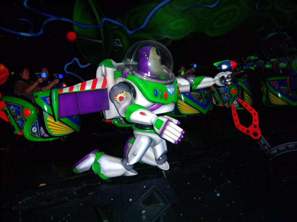 Buzz Lightyear Fights Zurg On Buzz Lightyear Astro Blaster