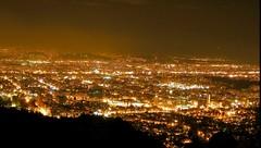 Overlooking City Lights in Bogota, Colombia