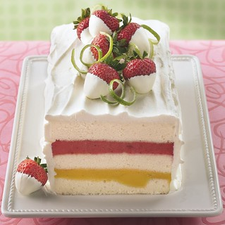 Mango-Strawberry Sorbet Torte Recipe | by Betty Crocker Recipes