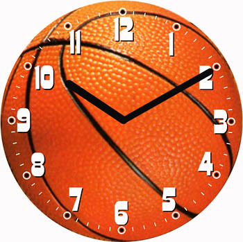 Basketball Clock | Purchase your personalized clock with ...