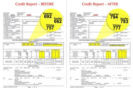 credit report before and after improve your credit score flickr. Black Bedroom Furniture Sets. Home Design Ideas