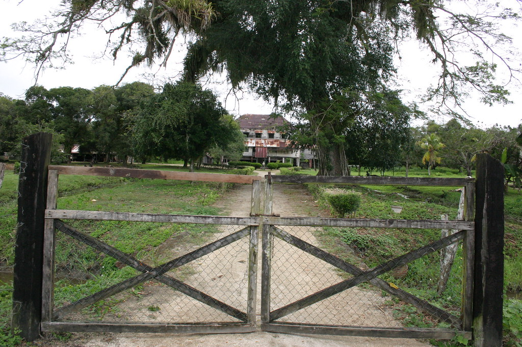 Old and abandoned plantation house at the former plantatio for Abandoned plantation homes for sale