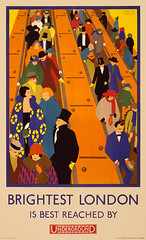 Brightest London is best reached by Underground, subway poster, 1924
