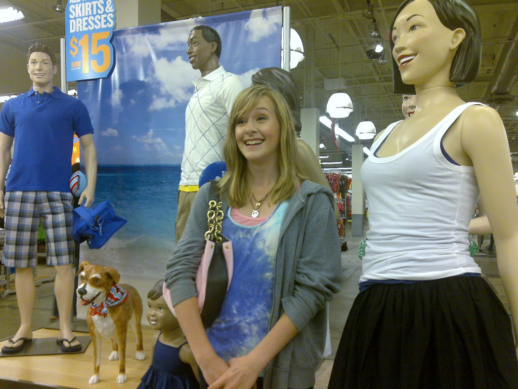 Living Mannequin Shopping With My Women My Wife