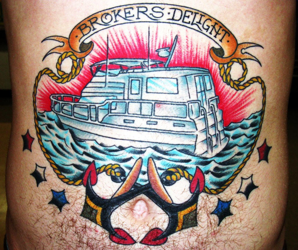 Cameron 39 s stomach tattoo by paco cendon of electric 13 for Electric 13 tattoo