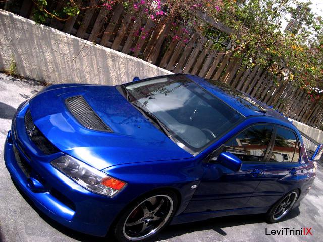 electric blue evo 9 my 06 mitsubishi lancer evolution elec levi browne flickr