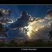Sun breaks through the clouds 2