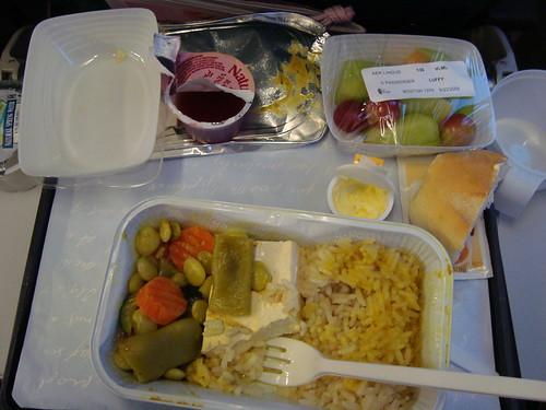 Vegetarian Airplane Food | by momomomo