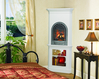 Heat&Glo_Crescent2Fireplace_GasSingleSided | by HeatandGlo