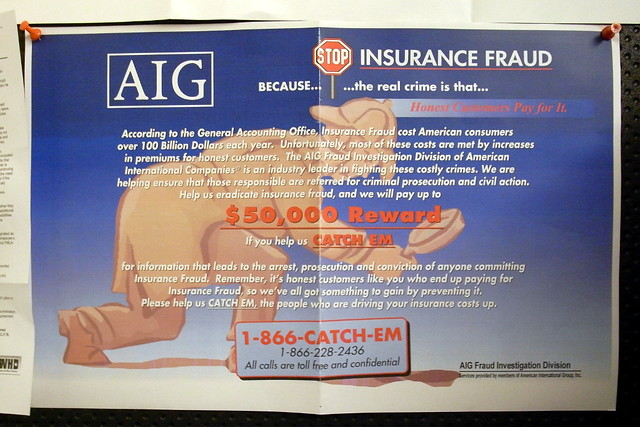 Aig Auto Insurance >> AIG Insurance Fraud | Hanging on the wall in the kitchen ...