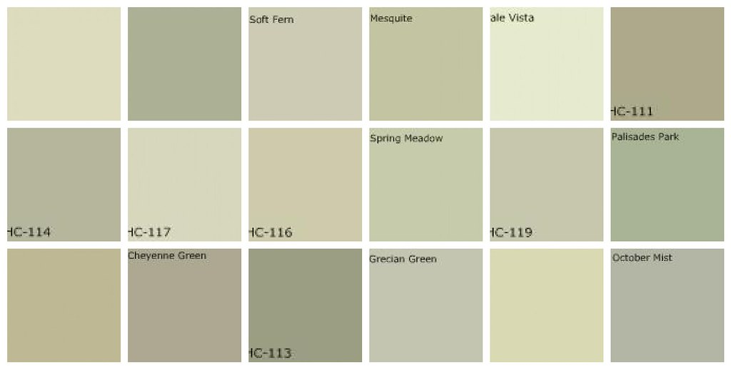 Gray green paint designers 39 favorite colors top row Green grey paint benjamin moore