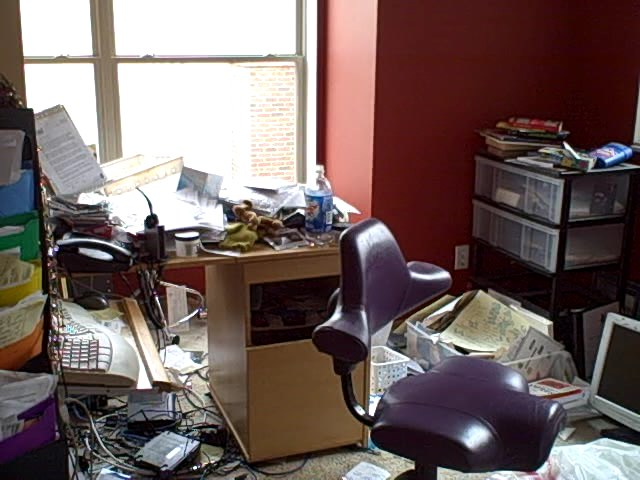 Messy office blogher is running a series on getting - Como limpiar paredes blancas muy sucias ...