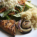 Grilled Tempeh with Quinoa and Salad