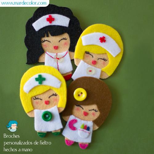 Muñequitas de fieltro enfermeras - Imagui