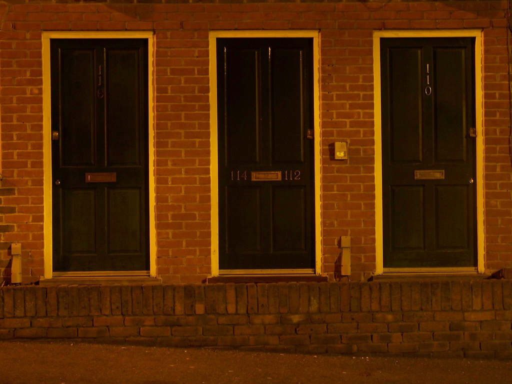 Three Doors at Night