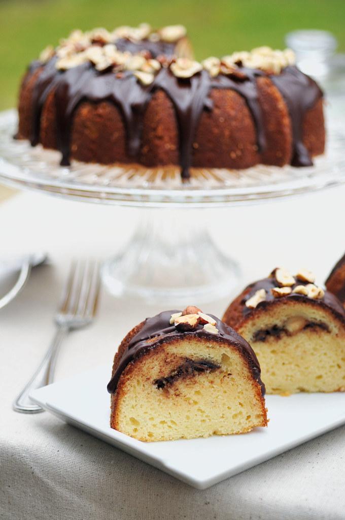 Hazelnut Sour Cream Cake