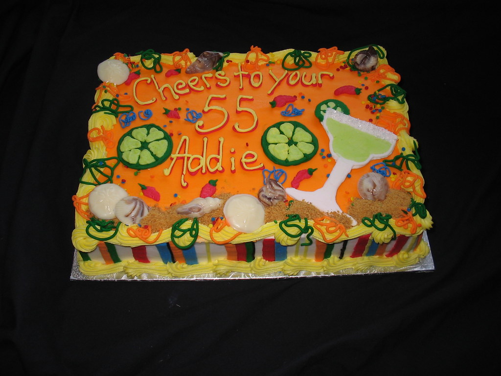 Mexican Margarita And Beach Theme Sheet Cake Giggy S
