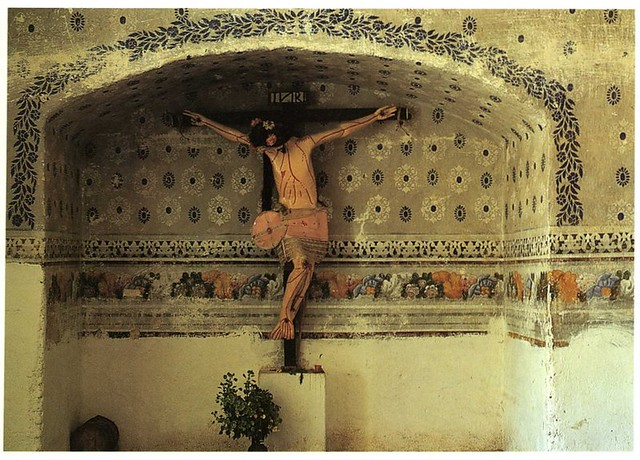 Christ on the Cross in recessed alcove in church of Matatl… | Flickr