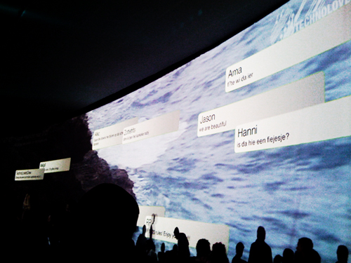 SMS wall interactif pour animation photo événementielle