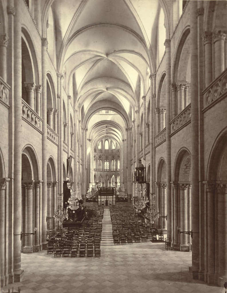 caen abbey church of saint tienne nave interior flickr. Black Bedroom Furniture Sets. Home Design Ideas
