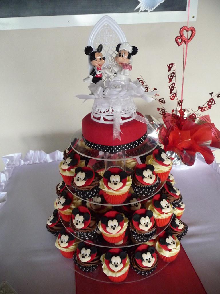 Mickey Cupcake Wedding Tower Natalie Bode Flickr
